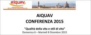 Conferenza AIQUAV 2015 programma