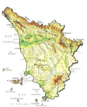 Cartina Toscana E Umbria Dettagliata.Geografia E Storia Irpet