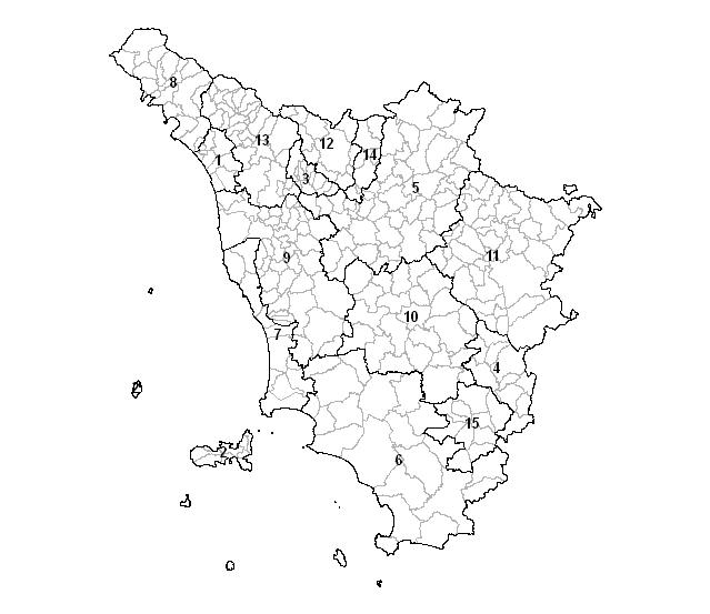 Cartina Toscana Con Province E Comuni.Geografia E Storia Irpet