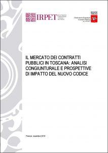 cover Rapporto Irpet-Osservatorio contratti pubblici 2016