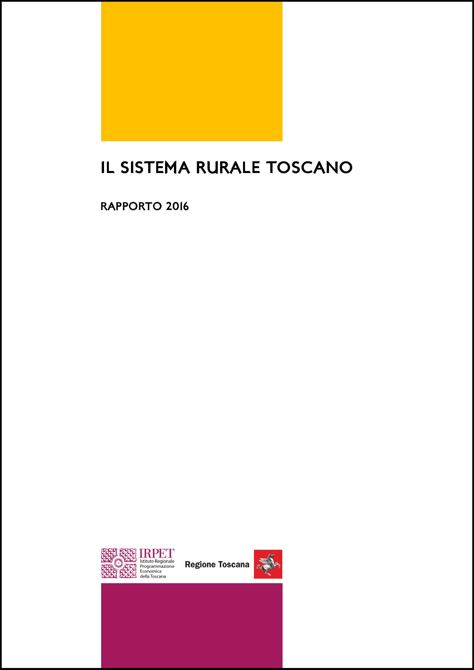 cover Il sistema rurale toscano 2016