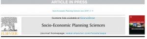 Socio-Economic Planning Sciences, Corrected proof. doi:10.1016/j.seps.2017.01.008