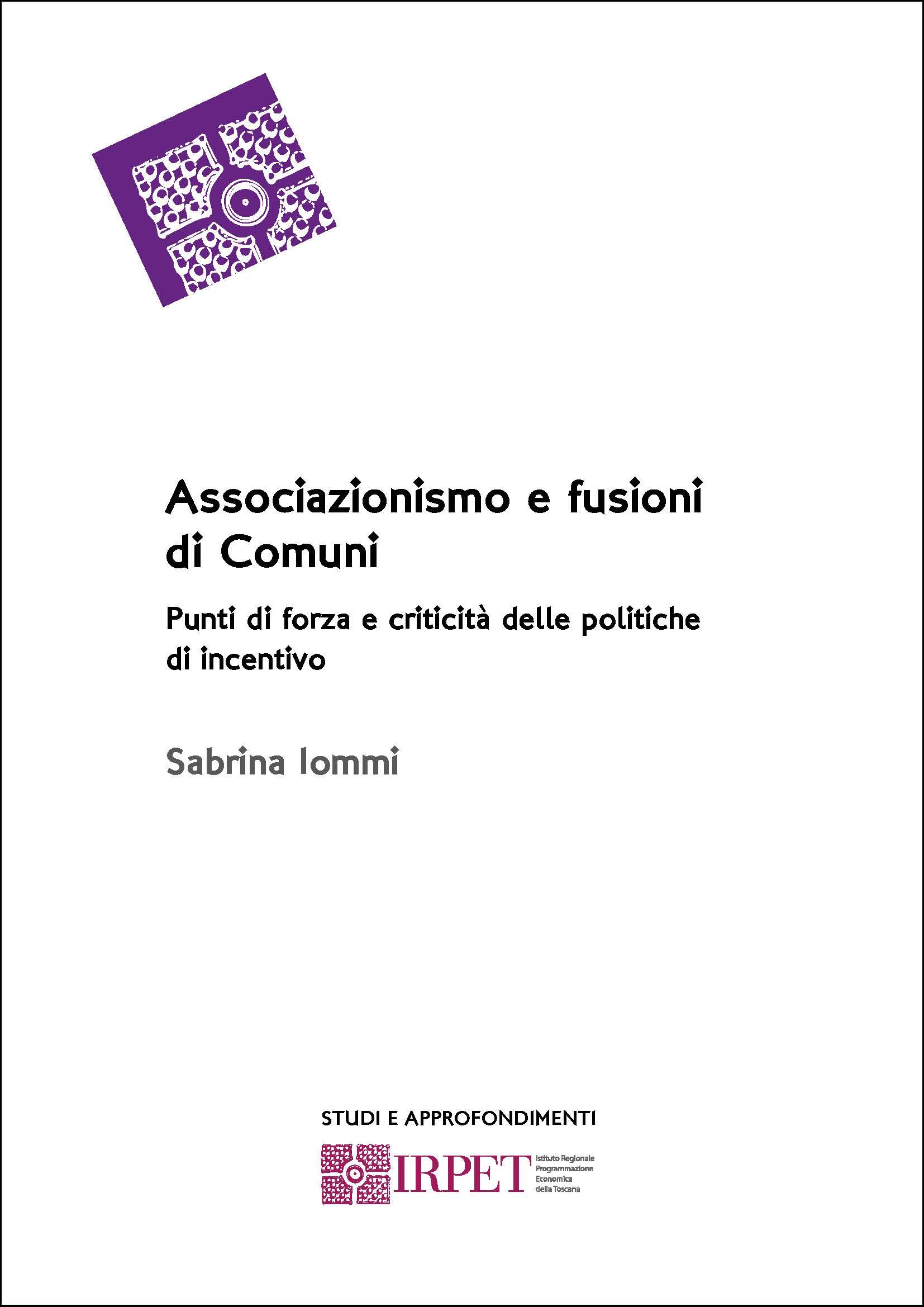 cover S&A Associazionismo e fusioni Comuni ConsiglioRTmarzo