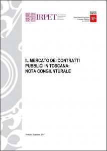 cover Rapporto Irpet-Osservatorio contratti pubblici dic_2017