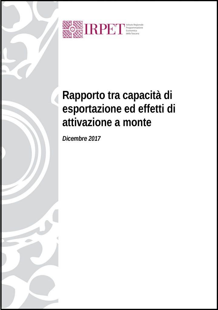 Copertina 1d_Rapporto tra capacità di esportazione ed effetti di attivazione a monte