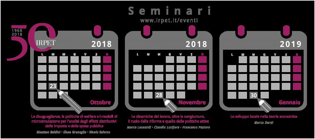 Icona Calendari seminari 50mo 2018 3 mesi matita