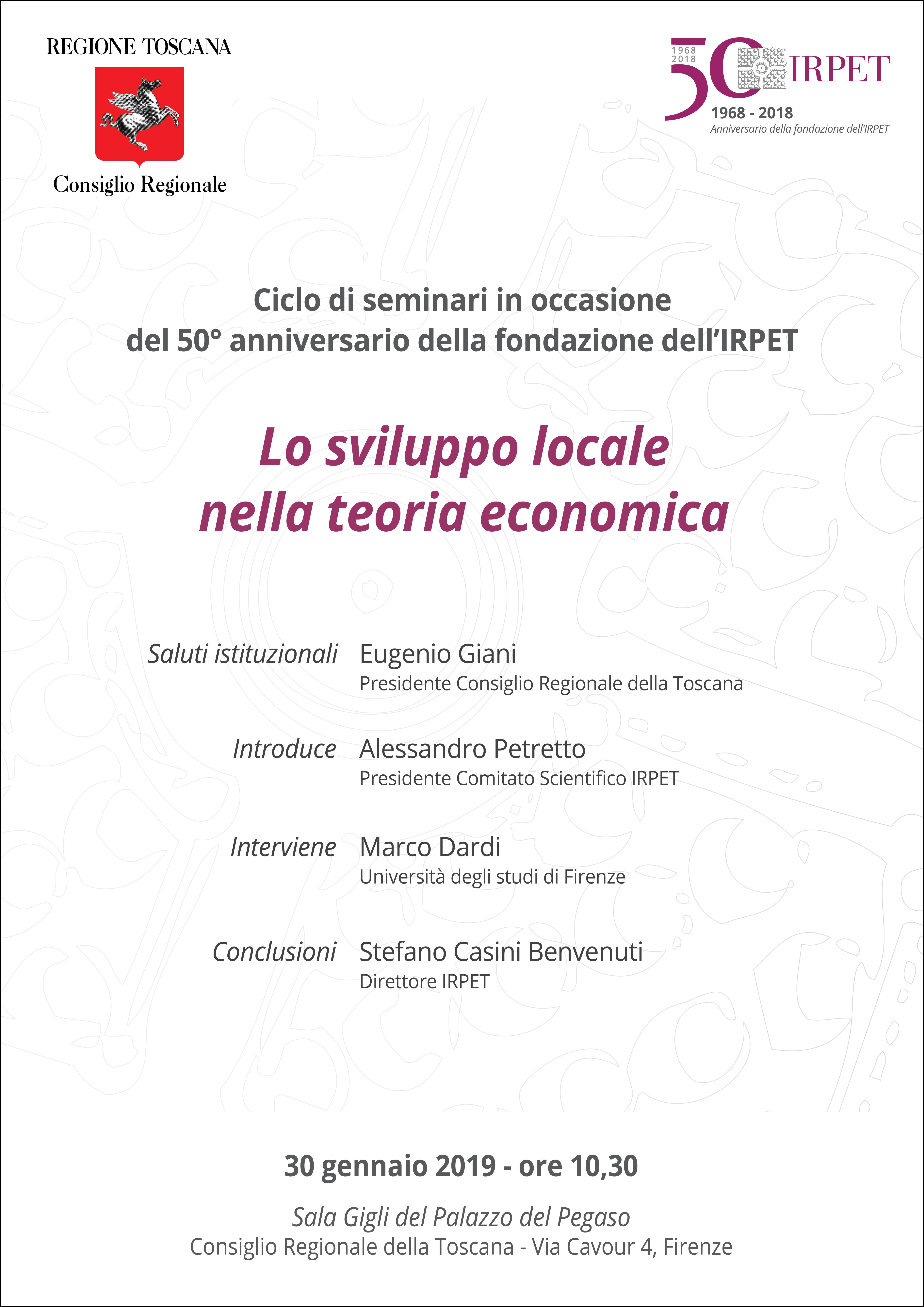III seminario 50mo IRPET 30.01