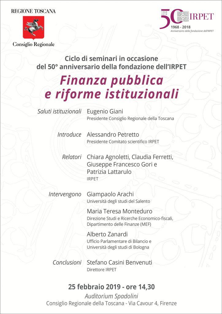 IV seminario 50mo IRPET 25.02.2019