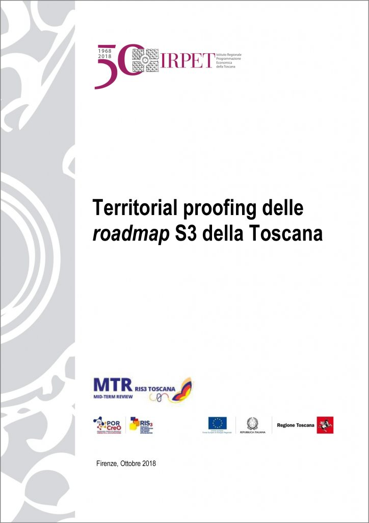 cover Territorial proofing Roadmap S3 Toscana