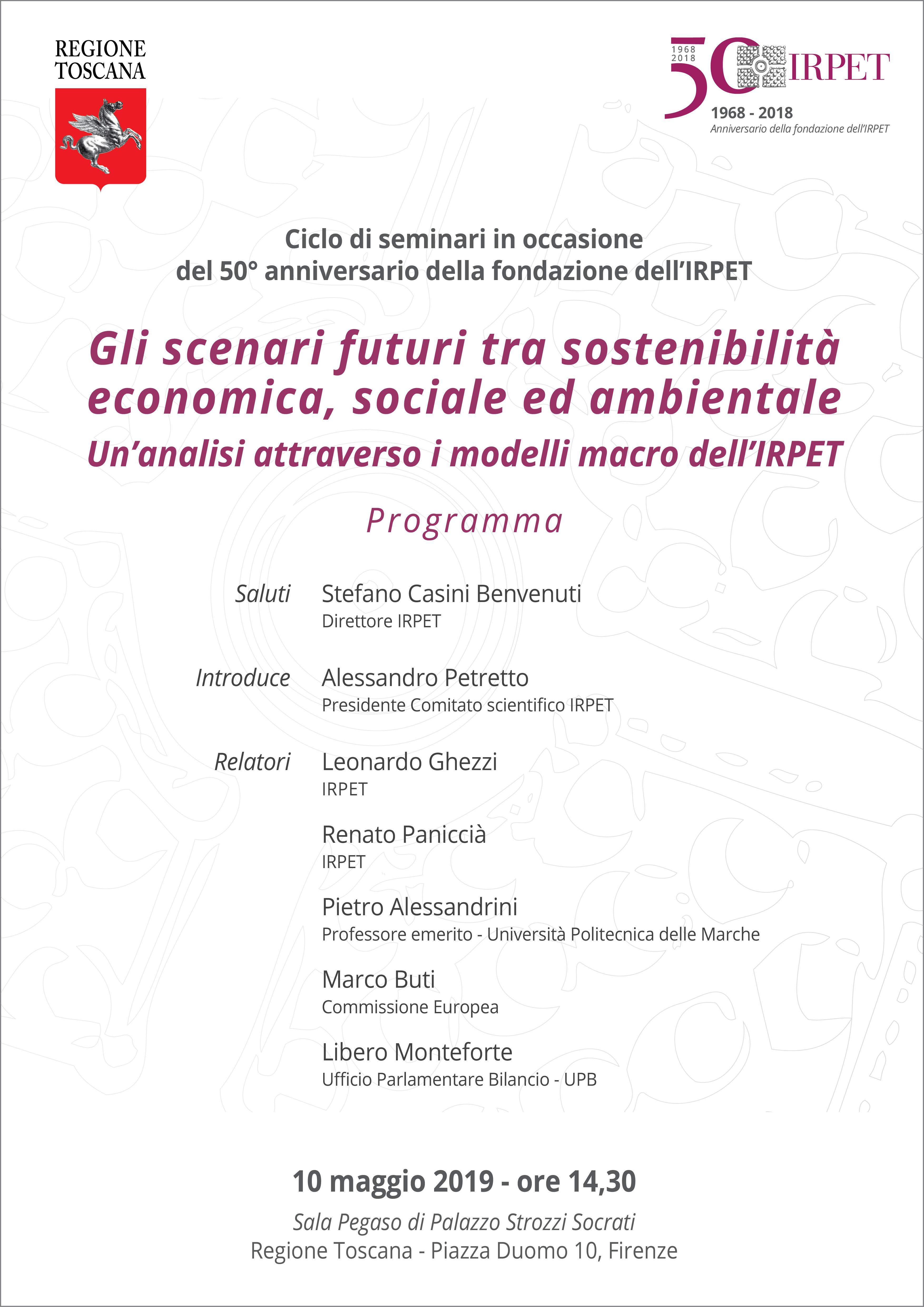 VI seminario 50mo IRPET 10.05