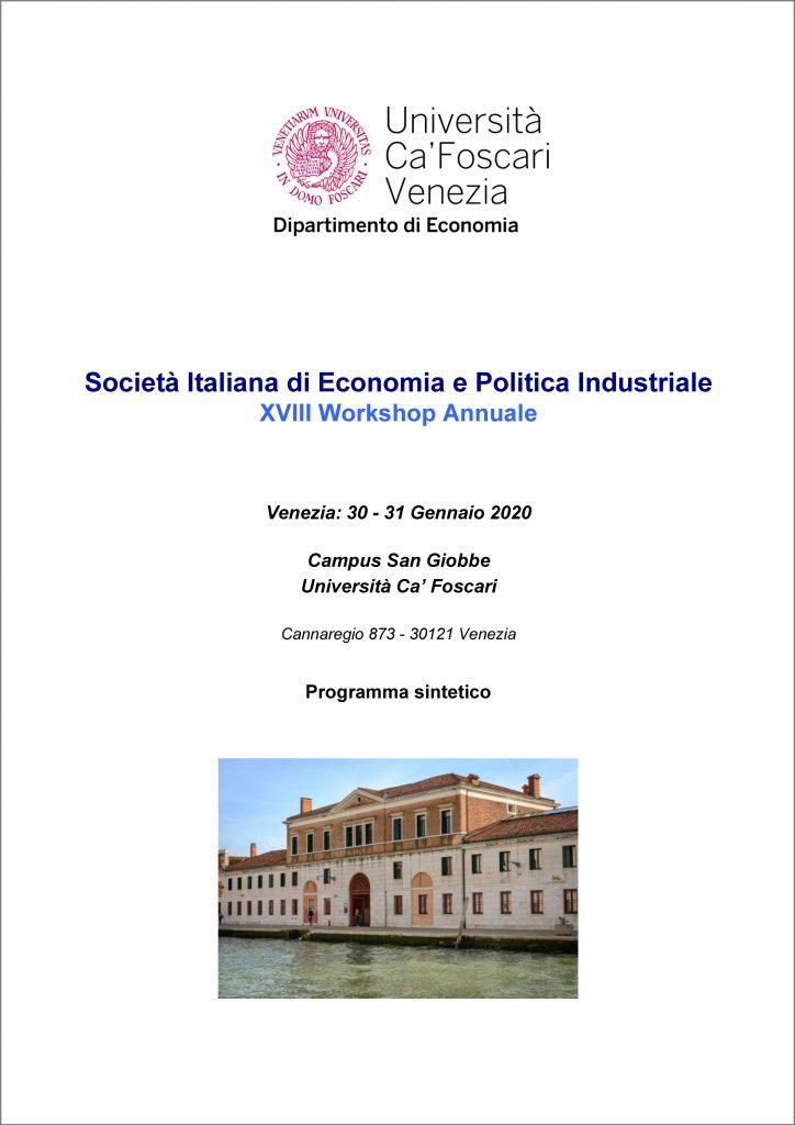 cover Programma-di-sintesi_SIEPI-XVIII_Venezia