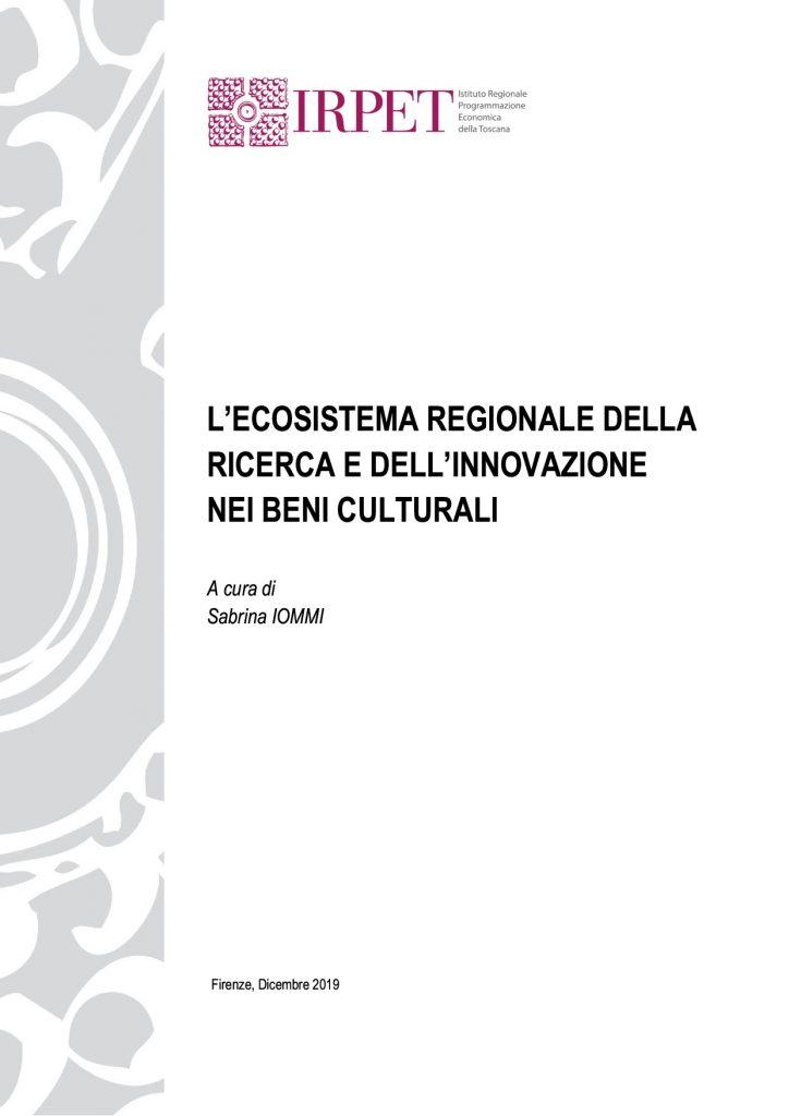 Ecosistema regionale ricerca e innovazione beni culturali 30.12.2019