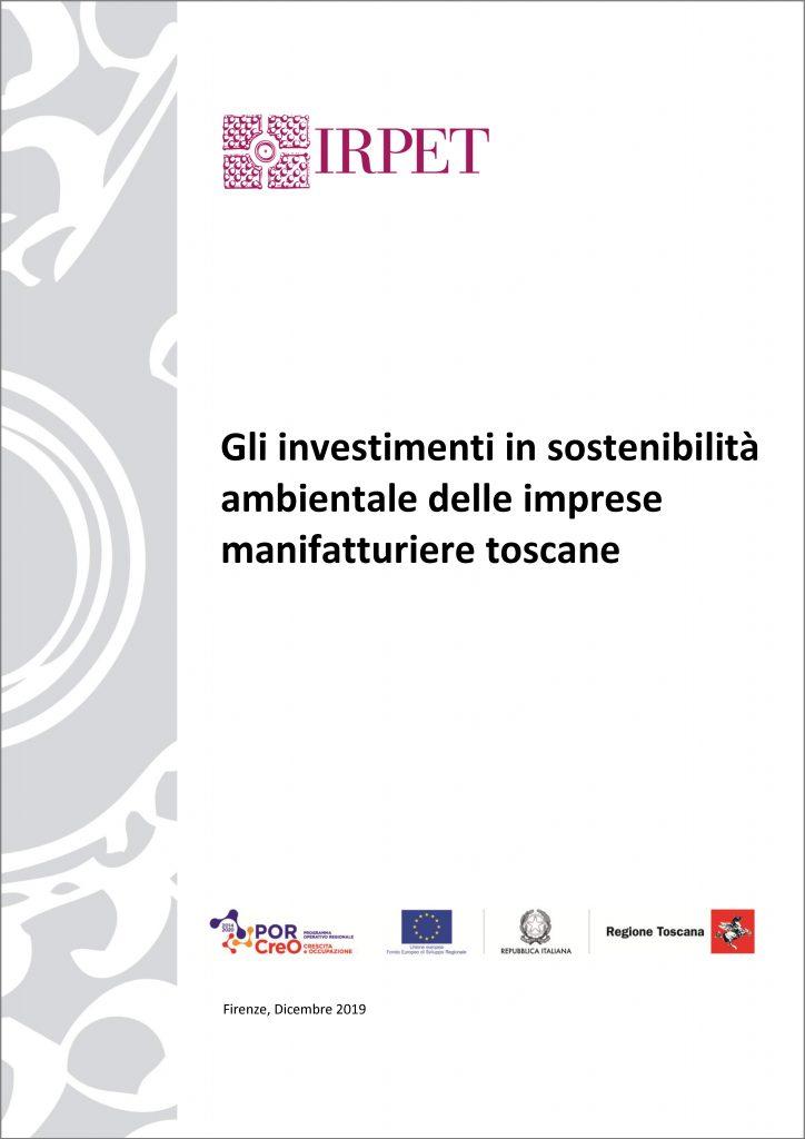 cover Rapporto sostenibilità ambientale imprese