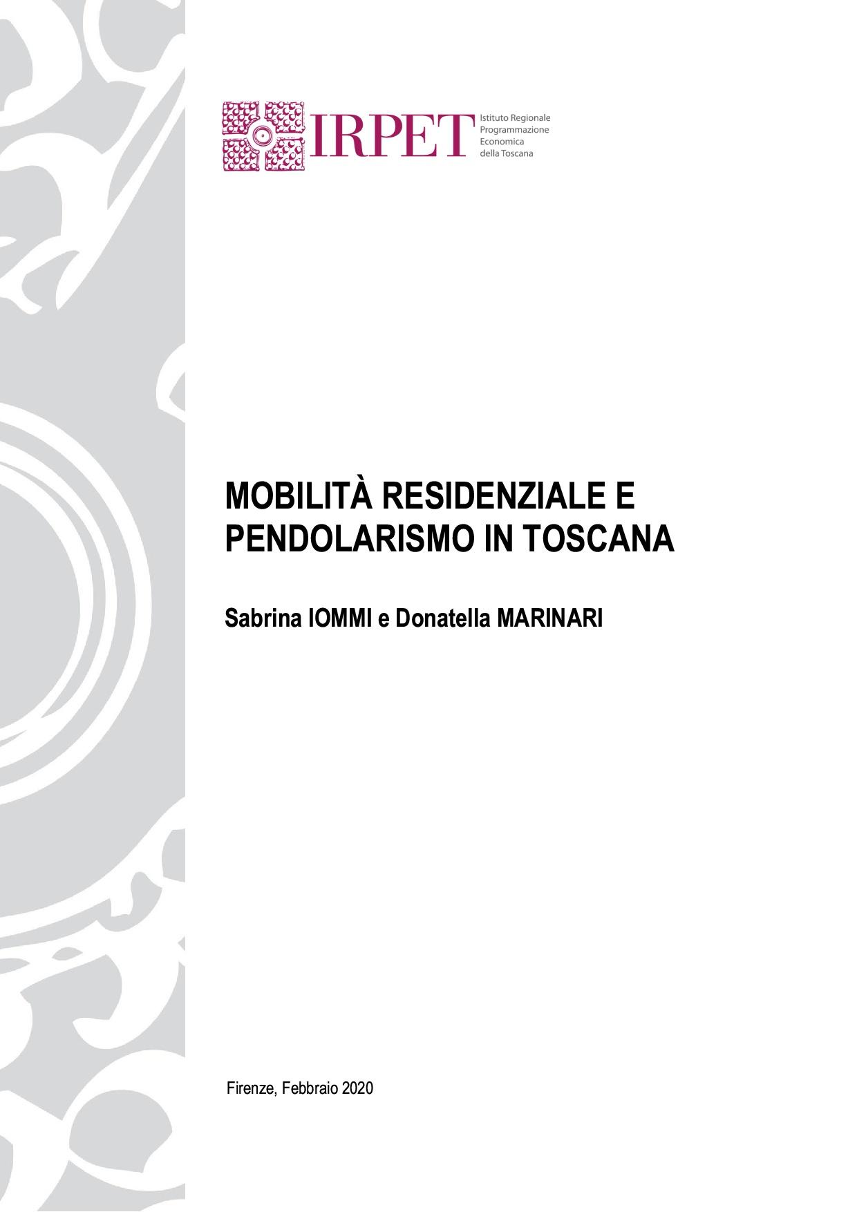 IOMMI MARINARI Report IRPET trasferimenti residenza pendolarismo 2020-1allestito