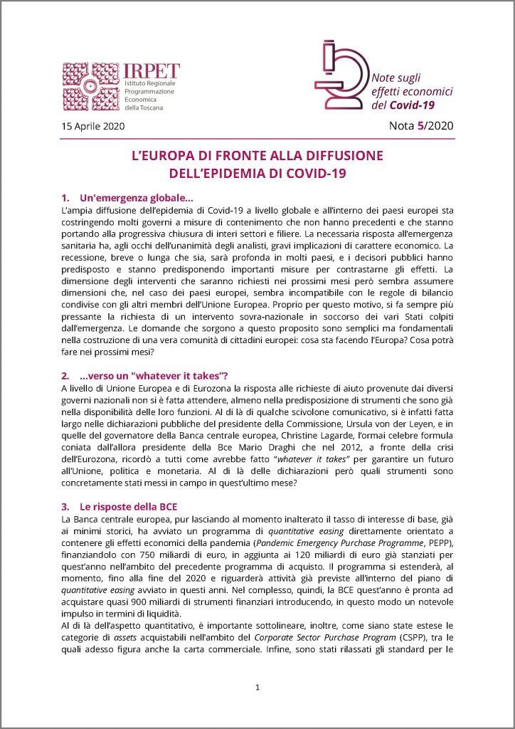cover Nota 5 15.04.2020 Covid-19