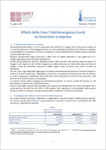 cover Barometro n. 10 Effetti Fase 1 09.07.2020