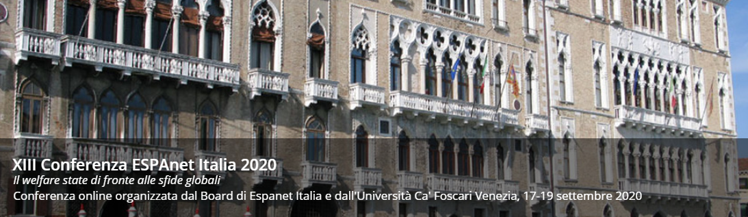 XIII Conferenza ESPAnet Italia 2020