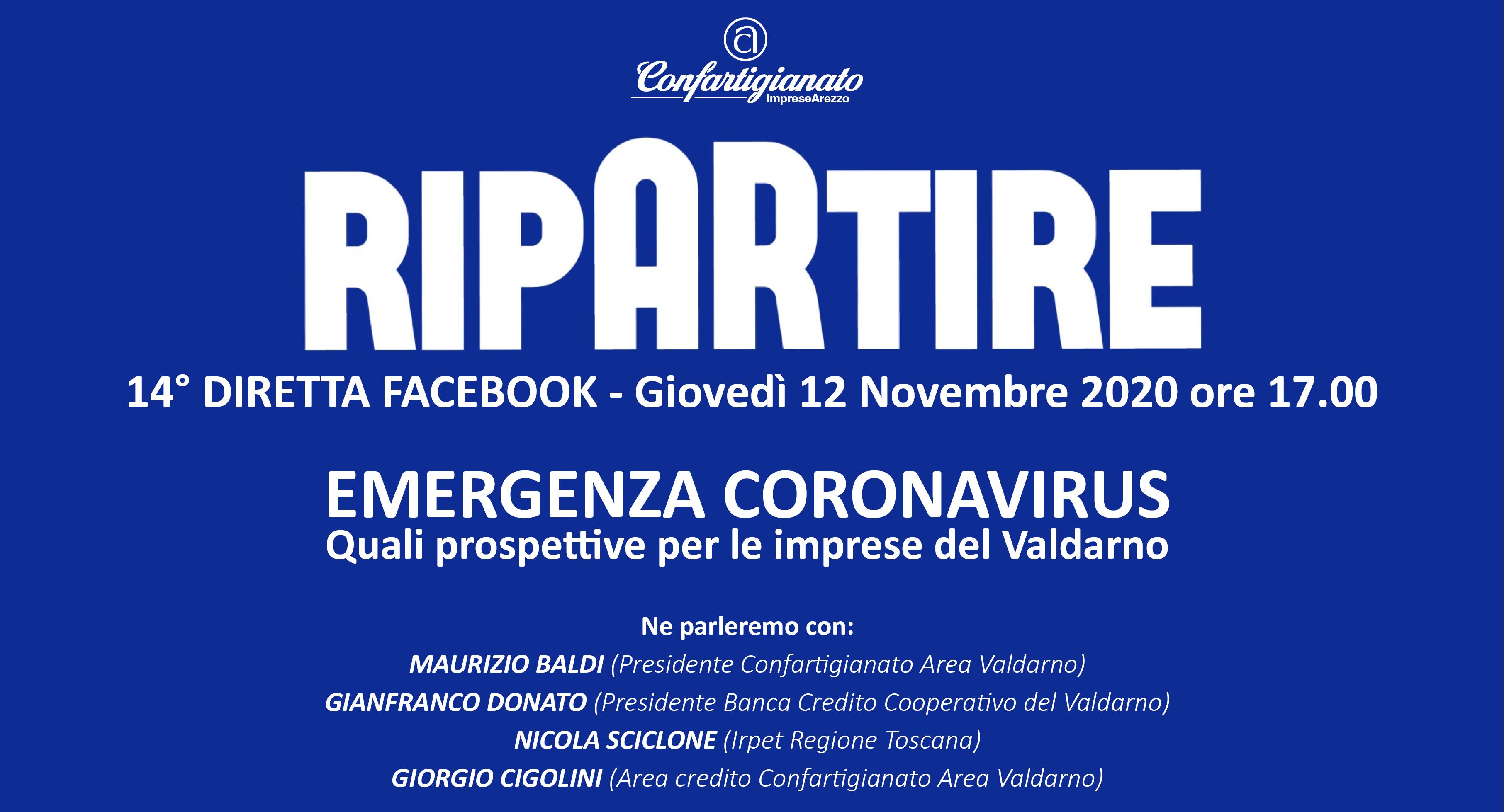 EMERGENZA CORONAVIRUS. Quali prospettive per il Valdarno - Ripartire 12.11