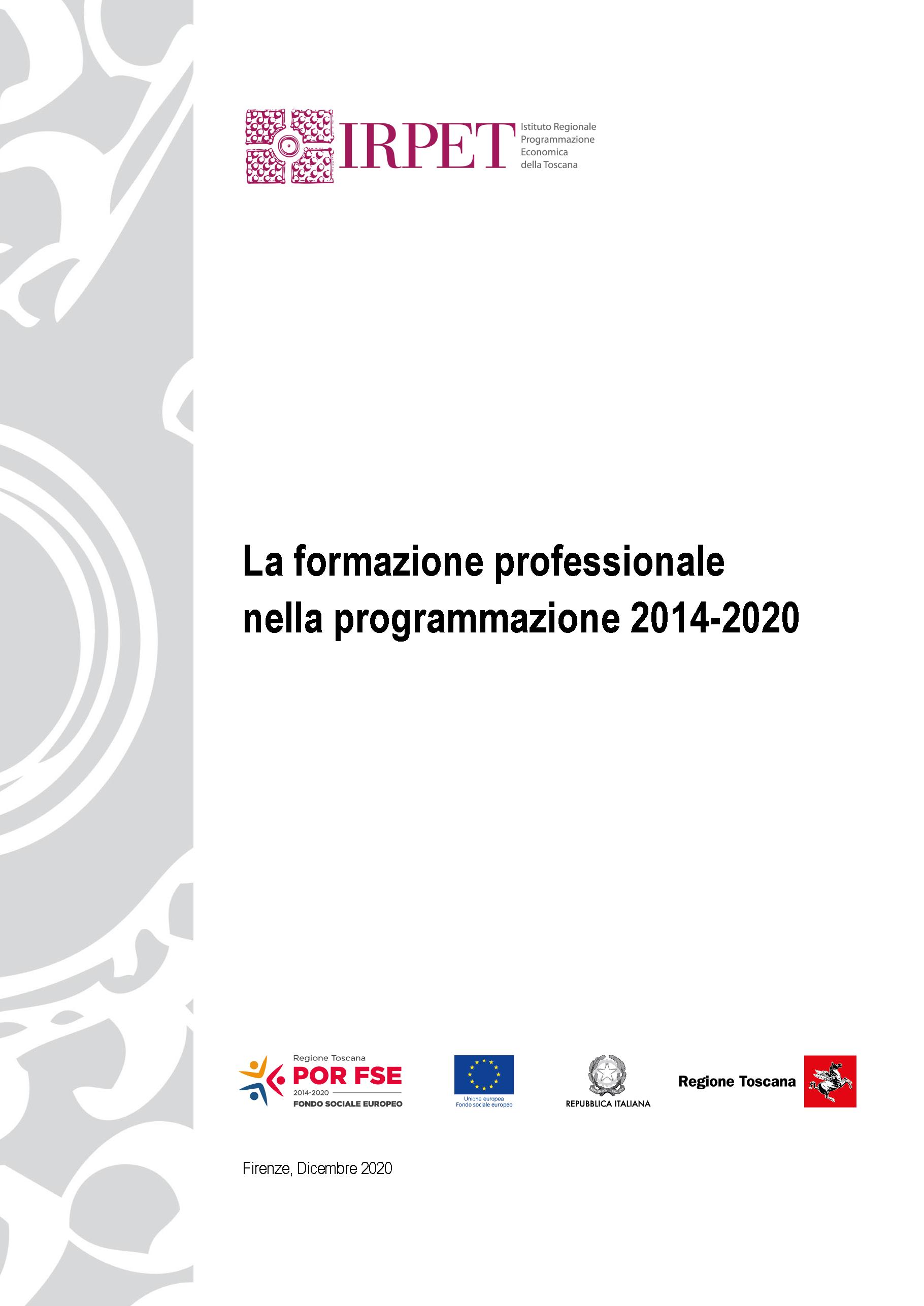 cover LA FORMAZIONE PROFESSIONALE 31.12.2020