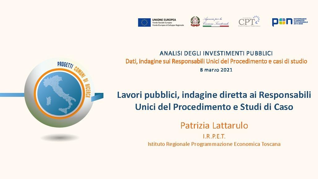 Presentazione P. Lattarulo