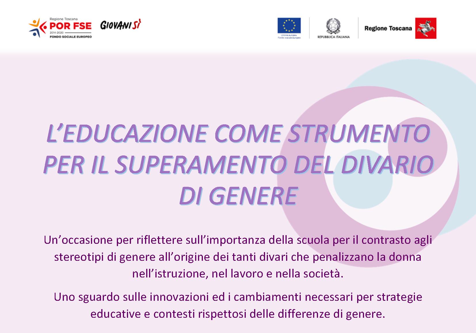 18 marzo 2021 - Educazione e lotta agli stereotipi