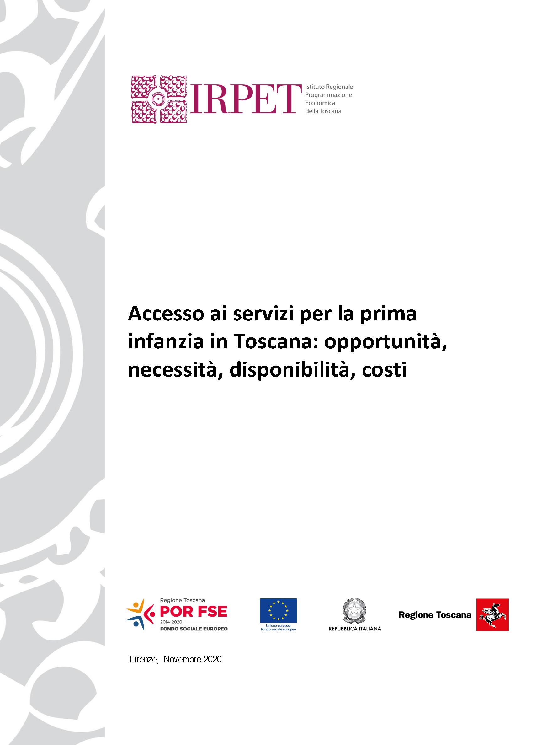 Accesso servizi prima infanzia Toscana 11.2020
